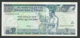 ETHIOPIA 5 BIRR. 2013. SIGN.6. PICK 47f. UNC / NEUF - Ethiopia