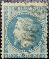 N°29B. Napoléon 20c Bleu. Oblitéré Losange G.C. N°3939 Thionville - 1863-1870 Napoleone III Con Gli Allori