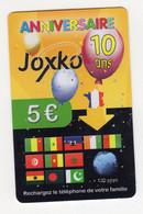 FRANCE PREPAYEE JOXKO  ANNIVERSAIRE 10 ANS DRAPEAUX - Unclassified