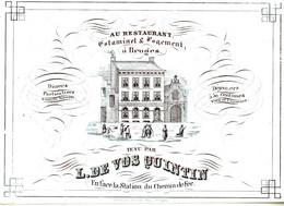 DE 468 - Carte Porcelaine Du Restaurant, Estaminet & Logement, Bruges, Imp. Daveluy, Bruges - Sin Clasificación