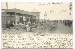 Oostende L' Estacade Vuurtoren Lighthouse Phare Briefstempel Boulogne Sur Mer 1905 - Oostende
