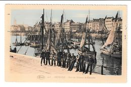 Oostende Port Des Pecheurs De Crevettes Vissersboot O129 & O96 Briefstempel 1925 - Oostende