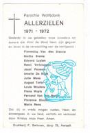 Parochianen Wolfsdonk Langdorp Aarschot † 1971/72 & 1973/74 - Imágenes Religiosas