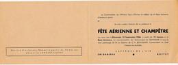 """Document Militaire Armée De L' Air """" Invitation Sur La Base Aérienne D' Innsbruck Pour Une Fête Aérienne En 1946 """" - Dokumente"""