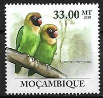 Mozambique - MNH ** 2010 :  Black-cheeked Lovebird  -  Agapornis Nigrigenis - Papegaaien, Parkieten