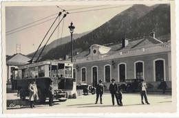 CPA   MODANE  La Gare,  Départ De L'Electrobus - Modane
