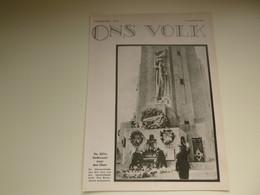 """Origineel Knipsel ( 3485 ) Uit Tijdschrift """" Ons Volk """" 1933 :   14° Ijzerbedevaart  Diksmuide   Karel Aubroeck - Unclassified"""