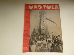 """Origineel Knipsel ( 3486 ) Uit Tijdschrift """" Ons Volk """" 1936 :   17° Ijzerbedevaart  Diksmuide   Karel Aubroeck - Unclassified"""
