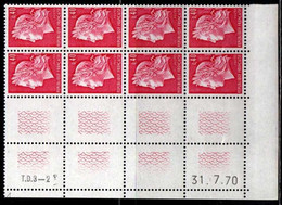 Coin Daté Cheffer N° 1536B Du 31/7/1970 ** - 1970-1979