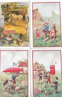 Lot De 4 Images Récompense Scolaire Ecoles Communales De LYON - Non Classés