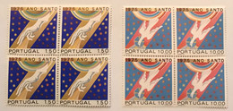 """POR#2850-Set Of 2 Blocks Of 4 MNH Stamps - """"Ano Santo 1975"""" - Portugal - 1975 - Blocs-feuillets"""
