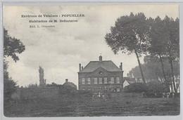 Environs De Velaines ( Tournai ) Popuelles : Habitation De Mr Defontaine  JE VENDS MA COLLECTION PRIX SYMPAS REGARDEZ ME - Unclassified