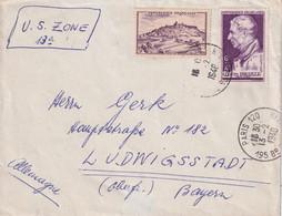 FRANCE 1948 LETTRE DE PARIS - 1921-1960: Modern Tijdperk