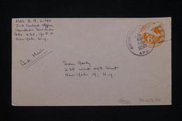 ETATS UNIS - Entier Postal Par Avion D'un Soldat ( APO 230 ) Pour  New York En 1954 - L 91475 - 1941-60
