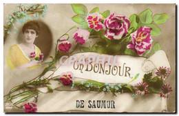 CPA Un Bonjour De Saumur - Saumur
