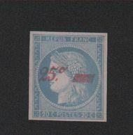 Faux N° 8A 25 C Sur 20 C Cérès Neuf Sans Gomme - 1849-1850 Ceres