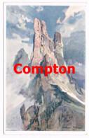 710 E.H.Compton Vajolet-Türme Bozen Dolomiten Künstlerkarte - Ohne Zuordnung