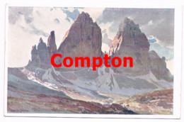 713 E.H.Compton Drei Zinnen Sexten Dolomiten Künstlerkarte - Ohne Zuordnung