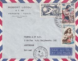 TAHITI 1959  PLI AERIEN DE PAPEETE - Tahiti