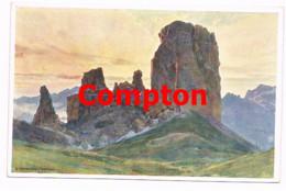 715 E.H.Compton Cinque Torri Ampezzo Dolomiten Künstlerkarte - Ohne Zuordnung