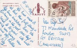 TAHITI 1960  PLI AERIEN CARTE  DE PAPEETE - Tahiti
