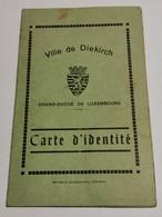 Carte D'identité, Ville De Diekirch 1938 - Brieven En Documenten