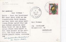 TAHITI 1960   CARTE  DE PAPEETE - Tahiti