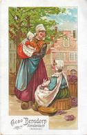 Cacao Et Chocolat Bensdorp - Amsterdam (Hollande) - Au Marché, Lapin, Choux - Belle Carte Publicitaire - Publicité