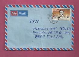 Lettre De 1989 Du Kenya Pour La Finlande - Croix-Rouge - Dunant - Croce Rossa