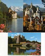 LOT DE150 CARTES MODERNES CHATEAUX FRANCAIS ET ETRANGERS - 100 - 499 Postcards