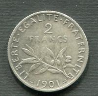 2 FRANCS SEMEUSE ARGENT 1901 TB - I. 2 Francs