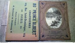 Calendrier Buvard  Porte Lettres 1910 Au Prince Albert Chaussures Paris Lavandières - Big : 1901-20