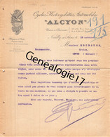 92 2455 NEUILLY SUR SEINE 1909 Cycles Motocyclettes ALCYON Automobiles Rue Garnier A BILLAUD D CHATEAUBRIAND Aff BUSSO - Automobilismo