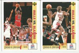 2 FIGURINE BASKET NBA -BULLS VS. BLAZERS -MICHAEL JORDAN - Sin Clasificación