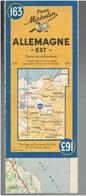 CARTE GEOGRAPHIQUE 1945 ALLEMAGNE EST IMPRIMEE AU DOS D UNE CARTE ALLEMANDE 1940 DE L ANGLETERRE MICHELIN WWII - 1939-45