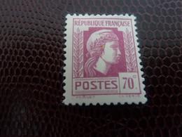 MARIANNE D'ALGER - LITHOGRAPHIE - 70c. - Lilas-rose - Neuf - Année 1944 - - 1944 Coq Et Maríanne D'Alger