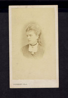 Photographie Origine Studio: DUBORDIEU- VALENCE- 1872/73 - Jeune Femme De Profil Avec Médaillon - - Old (before 1900)