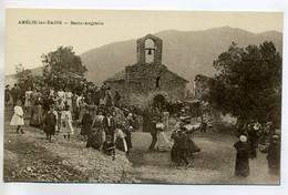 66 AMELIE Les BAINS Xatard édit - Jour De Fete à Santa Angrancia Danseurs Anim Villageois 1920   /D12-2018 - Otros Municipios