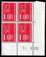 Coin Daté Bequet N° 1892 Du 31/8/1976 ** - 1970-1979