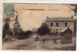 SAINT MAURICE DE PIONSAT  La Grande Place  La Poste - Otros Municipios