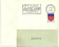 MARNE / HAUTE Dépt N° 52 = CHALINDREY ENTREPOT 1968 =  FLAMME Codée SUPERBE = SECAP ' Les PTT Offrent SITUATIONS ... - Mechanical Postmarks (Advertisement)