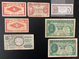 11 X Banknotes From Hong Kong, Singapore And Malaya - Hongkong
