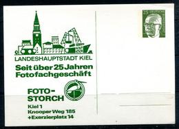 R.F.A. - Michel PP45/1 B2/001 - KIEL - Seitüber 25 Jahren Fotofachgeschäft - Foto-Storch - Private Postcards - Mint
