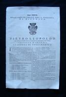 Pietro Leopoldo Num XXXVIII Regolamento Comunità Dicomano 1774 - Zonder Classificatie