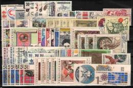 Tchécoslovaquie 1969 Mi 1851-1915 (Yv 1698-1761+PA 71), L'année Complete, Obliteré - Años Completos