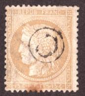 Cérès N° 59 Bistre - Oblitération Cachet De Boîte Rurale C - 1871-1875 Ceres