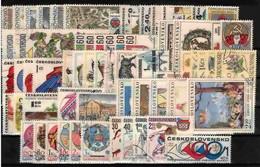 Tchécoslovaquie 1971 Mi 1981-2049 (Yv 1825-1893), L'année Complete, Obliteré - Años Completos