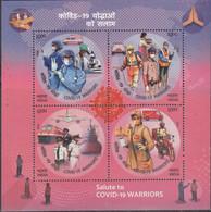 INDIA 2020 CORONA COVID19 MS, Miniature Sheet MNH(**) - Nuevos