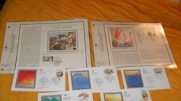 LOT 5 ENVELOPPES FDC DE 2005 + 2 FEUILLES CEF 1985..HOMMAGE AUX FEMMES, GIVORS...COUPE GORDON BENNETT LE RALLYE RAID..CA - 2000-2009