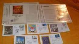 LOT 5 ENVELOPPES FDC DIVERS DE 2007 + 2 FEUILLES CEF 1984, 1985..CORDOUAN, JEAN PAUL SARTRE...TRAITE DE ROME, LIMOGES, A - 2000-2009